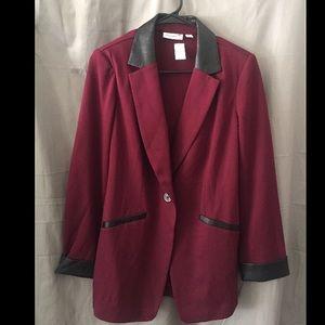 Susan Graver Maroon Rayon Blazer NEW size 8